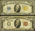 Small Size:World War II Emergency Notes, World War II $10s.. ... (Total: 2 notes)