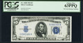 Small Size:Silver Certificates, Fr. 1650 $5 1934 Silver Certificate. PCGS Choice New 63PPQ.. ...