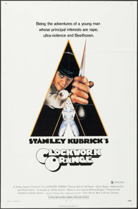 "A Clockwork Orange (Warner Brothers, 1971). One Sheet (27"" X 41"") X-Rated Version. Science Fiction"