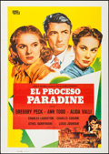 "Movie Posters:Hitchcock, The Paradine Case (S.M. Films, R-1982). Spanish One Sheet (27.5"" X39.25""). Hitchcock.. ..."