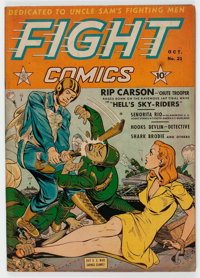 Fight Comics #21 (Fiction House, 1942) Condition: VG