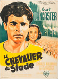 "Movie Posters:Sports, Jim Thorpe - All American (Warner Brothers, 1952). French Grande (46.25"" X 63.25""). Sports.. ..."