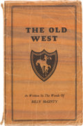 Books:Biography & Memoir, Glenn L. Eyler. The Old West as Written in the Words ofBilly McGinty. Signed by the Author. Ripley,...