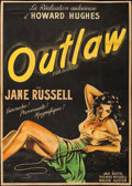 "Movie Posters:Western, The Outlaw (United Artists, 1948). First Release French Grande (42.5"" X 60""). Western.. ..."