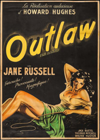 "The Outlaw (United Artists, 1948). First Release French Grande (42.5"" X 60""). Western"