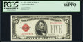 Small Size:Legal Tender Notes, Fr. 1531 $5 1928F Wide I Legal Tender Note. PCGS Gem New 66PPQ.. ...