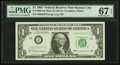 Small Size:Federal Reserve Notes, Four-digit Serial Number Fr. 1900-J $1 1963 Mule Federal Reserve Note. PMG Superb Gem Unc 67 EPQ.. ...