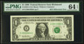 Small Size:Federal Reserve Notes, Fr. 1924-E $1 1999 Federal Reserve Millennium Note. PMG Choice Uncirculated 64 EPQ.. ...