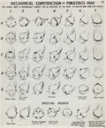 animation art:Model Sheet, Pinocchio Studio Model Sheets Group of 11 (Walt Disney,1940).... (Total: 11 Items)