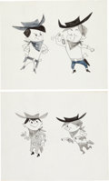 Animation Art:Concept Art, Elmer Plummer - Cheerios Kid and Others Character Design ConceptArt Group of 11 (Norman Wright Productions, 1950s).... (Total: 11Original Art)
