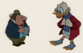 Animation Art:Production Cel, Mickey's Christmas Carol Uncle Scrooge and Mole ProductionCel (Walt Disney, 1983)....