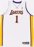 Basketball Collectibles:Uniforms, 2005-06 Smush Parker Game Worn Los Angeles Lakers Jersey....