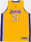 Basketball Collectibles:Uniforms, 2005-06 Ronny Turiaf Game Worn Los Angeles Lakers Jersey....