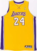 Basketball Collectibles:Uniforms, 2005-06 Jim Jackson Game Worn Los Angeles Lakers Jersey....