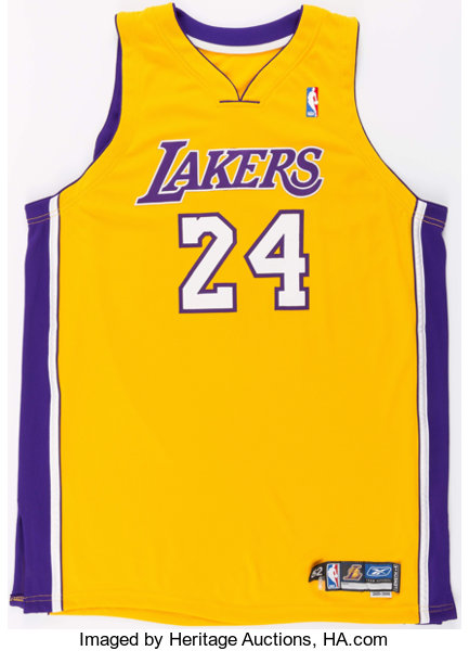 53b45ad7e43 ... Basketball Collectibles:Uniforms, 2005-06 Jim Jackson Game Worn Los  Angeles Lakers Jersey ...