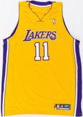Basketball Collectibles:Uniforms, 2005-06 Devin Green Game Worn Los Angeles Lakers Jersey....