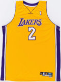 Basketball Collectibles:Uniforms, 2005-06 Aaron McKie Game Worn Los Angeles Lakers Jersey....