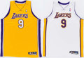 Basketball Collectibles:Uniforms, 2005-06 Laron Profit Game Worn Los Angeles Lakers Jerseys Lot of2....