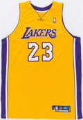 Basketball Collectibles:Uniforms, 2004-05 Von Wafer Game Worn Los Angeles Lakers Jersey....