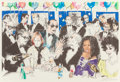 Prints, LeRoy Neiman (American, 1921-2012). Celebrity Night at Spago. Lithograph in colors. 24-1/2 x 37 inches (62.2 x 94.0 cm) ...