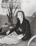 Paintings, Alfred Eisenstaedt (American, 1898-1995). Bette Davis. Gelatin silver. 8-3/4 x 7 inches (22.2 x 17.8 cm). Ed. 44/50. Sig...