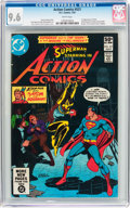 Modern Age (1980-Present):Superhero, Action Comics #521 (DC, 1981) CGC NM+ 9.6 White pages....