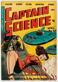 Golden Age (1938-1955):Science Fiction, Captain Science #3 (Youthful Magazines, 1951) Condition: VG-....