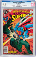 Modern Age (1980-Present):Superhero, Adventures of Superman #497 (DC, 1992) CGC NM/MT 9.8 White pages....