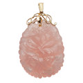 Estate Jewelry:Pendants and Lockets, Rose Quartz, Gold, Pendant. ...