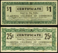 Obsoletes By State:Ohio, Clarinda, OH- Clarinda Chamber of Commerce 25¢; $1 Apr. 10, 1933Shafer IA220-.25A.a; 1.a . ... (Total: 2 notes)