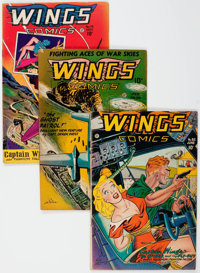 Wings Comics Group of 8 (Fiction House, 1946-50) Condition: Average FN.... (Total: 8 Comic Books)