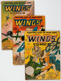 Wings Comics Group of 21 (Fiction House, 1942-50) Condition: Average GD.... (Total: 21 Comic Books)