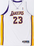 Basketball Collectibles:Uniforms, 2005-06 Von Wafer Game Worn Los Angeles Lakers Jersey....