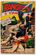 Golden Age (1938-1955):War, Rangers Comics #21 (Fiction House, 1945) Condition: VG....