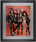 Miscellaneous Collectibles:General, KISS Multi-Signed Oversized Photograph - Steiner....