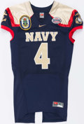 Football Collectibles:Uniforms, 2009 Ricky Dobbs Game Issued Navy Midshipmen Jersey....