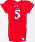 Football Collectibles:Uniforms, 2007 Todd Reesing Game Issued Kansas Jayhawks Jersey....