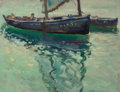 Fine Art - Painting, American:Modern  (1900 1949)  , Harry B. Lachman (American, 1886-1974). Reflections. Oil onpanel. 10-1/2 x 13-3/4 inches (26.7 x 34.9 cm). Signed lower...