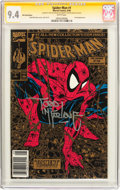 Modern Age (1980-Present):Superhero, Spider-Man #1 UPC Gold Edition - Signature Series (Marvel, 1990) CGC NM 9.4 White pages....