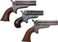 Handguns:Derringer, Palm, Lot of Three C. Sharps Four Barrel Derringers.... (Total: 3 Items)