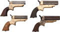 Handguns:Derringer, Palm, Lot of Four C. Sharps Four Barrel Derringers.... (Total: 4 Items)