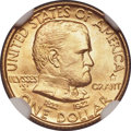 Commemorative Gold, 1922 G$1 Grant Gold Dollar, With Star, MS67 NGC. CAC....