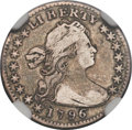 Early Half Dimes, 1796 H10C LIKERTY, V-1, LM-1, R.3, Fine 12 NGC. CAC....