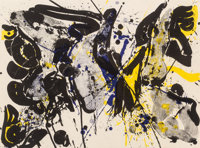 Sam Francis (American, 1923-1994) For Miro I (SF-35), 1963 Lithograph in colors 22-1/4