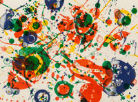Sam Francis (American, 1923-1994) Untitled, pl. 4, from The Pasadena Box series, 1963 Lit