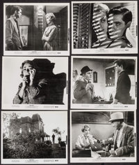 """Psycho (Paramount, R- 1965). Photos (12) & Trimmed Photos (3) (Approx. 8"""" X 10""""). Hitchcock. ... (Total: 1..."""