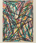 Fine Art - Work on Paper:Print, Charles Arthur Arnoldi (American, b. 1946). For Decisions and Revisions, 1983. Lithograph in colors on wove paper. 18 x ...