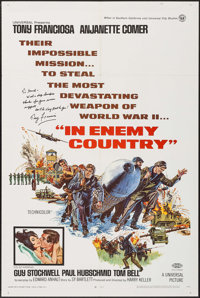 "In Enemy Country & Others Lot (Universal, 1968). Autographed One Sheet & One Sheets (2) (27"" X 41""). A..."