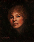 Fine Art - Painting, American:Contemporary   (1950 to present)  , Richard Headley (American, 20th Century). Barbra Streisand,1989. Oil on board. 15-1/2 x 12-1/2 inches (39.4 x 31.8 cm)...