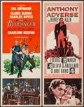 "Movie Posters:Adventure, The Buccaneer & Others Lot (Paramount, 1958). Inserts (4) (14""X 36""). Adventure.. ... (Total: 4 Items)"